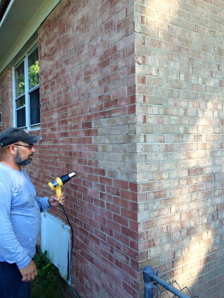 Sample Brick Staining